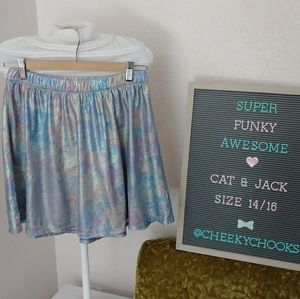 Cat & Jack iridescent rainbow metallic skirt flare